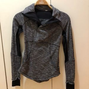 Lululemon Think Fast long sleeve pullover gray 2